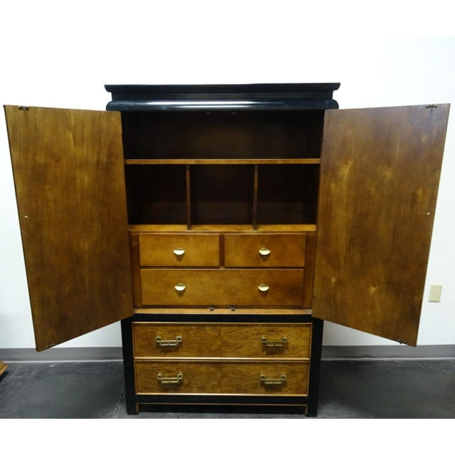 Brass Century Furniture Co. Chin Hua Asian Style Armoire/Gentleman's Chest For Sale - Image 7 of 11