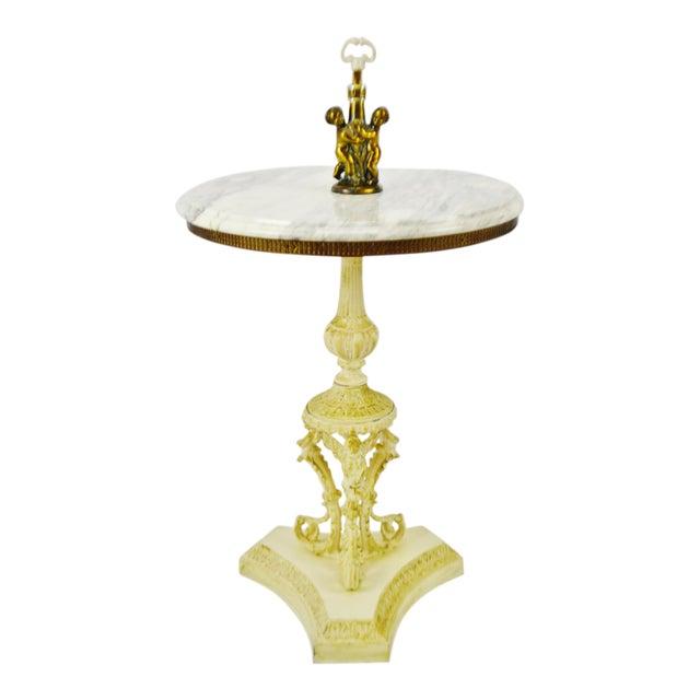 Hollywood Regency j.b. Van Sciver Co. Marble Top Table For Sale