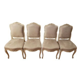 Vintage Louis XV Dining Chairs- Set of 4 For Sale
