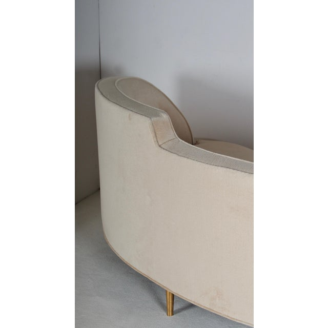 Gold Oasis Sofa by Wormley for Dunbar For Sale - Image 8 of 13