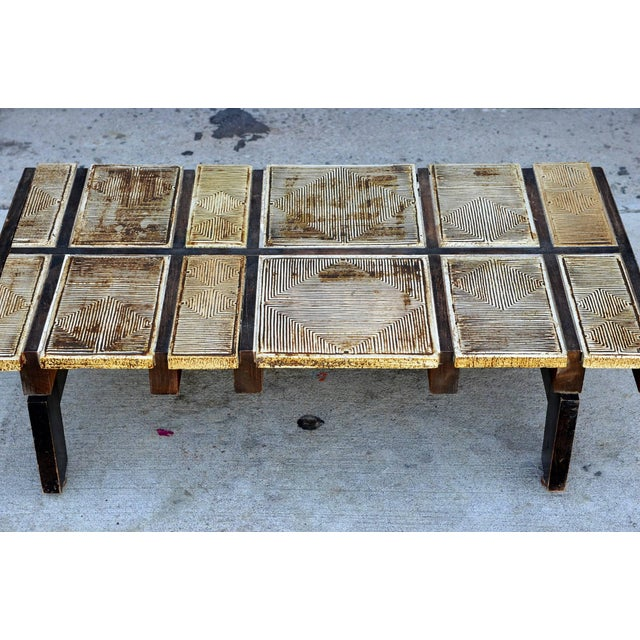Roger Capron Rare Signed Ceramic Coffee Table by Roger Capron For Sale - Image 4 of 8