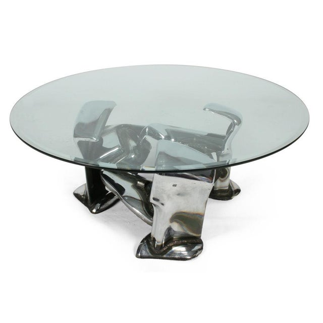 Glass John E. Pendleton Twisted Metal Cocktail Table For Sale - Image 7 of 9