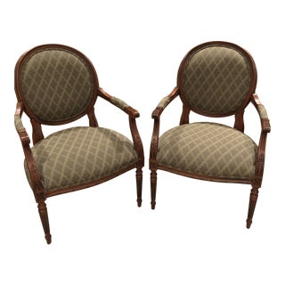 Ethan Allen Accent Chairs - A Pair For Sale