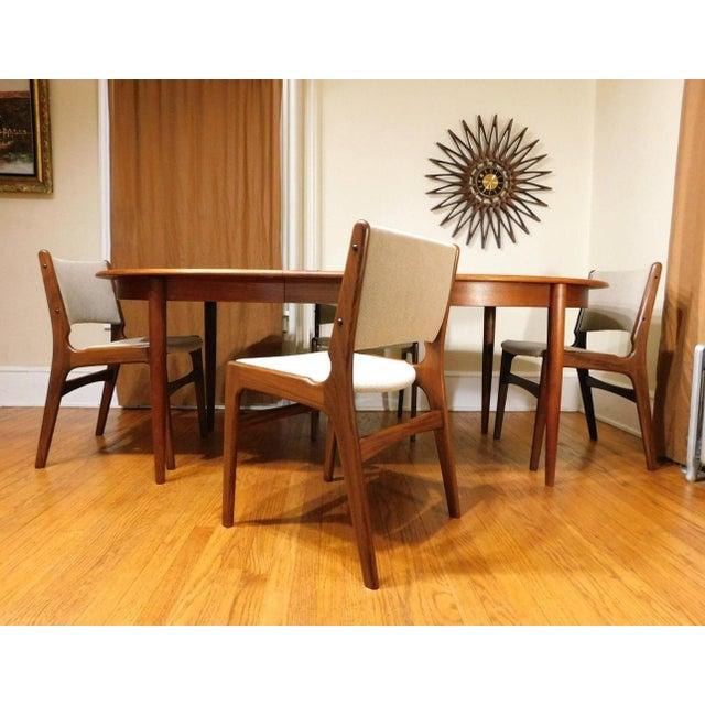 Mid-Century Modern Gudme Mobelfabrik Danish Teak Dining Table & 4 Chairs For Sale - Image 5 of 6
