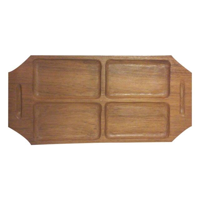 Danish Modern Teak Wood Serving Tray - Image 1 of 4