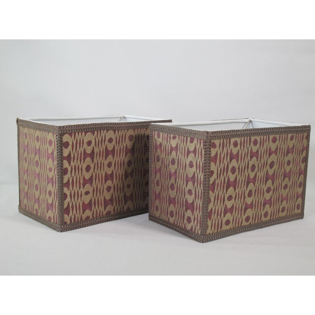 Mariano Fortuny Unita' Fortuny Lampshades - a Pair For Sale - Image 4 of 4