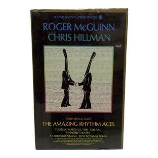 1980 Roger McGuinn & Chris Hillman Concert Poster For Sale