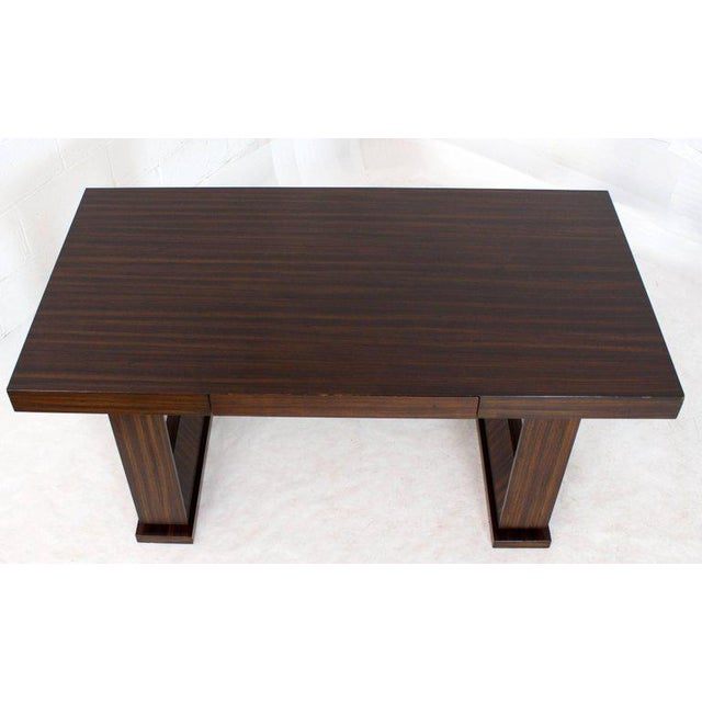 Brown Square Frame Legs Rosewood Mid-Century Modern Writing Table Desk For Sale - Image 8 of 9