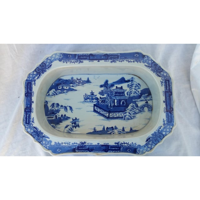 Chinese Filigree Porcelain Serving Platter - Image 2 of 6