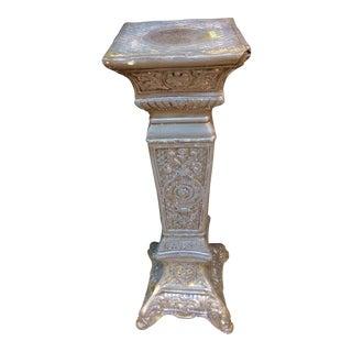 Victorian Gray & Wax Pedestal For Sale