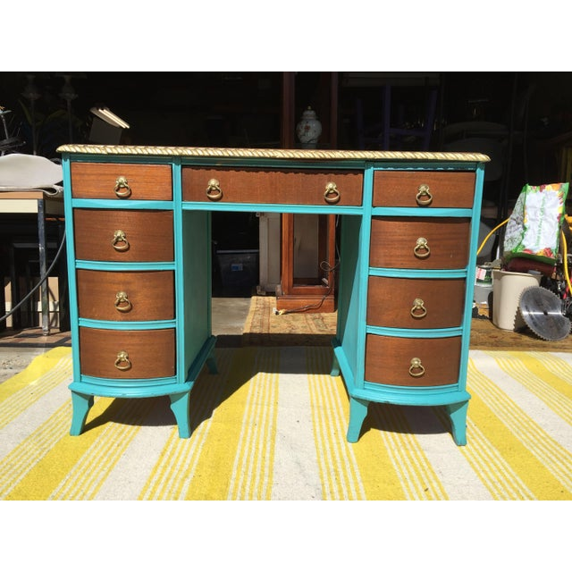 20th Century Traditional Duncan Phyfe Partner Desk For Sale - Image 10 of 10