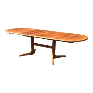 1970s Danish Mid-Century Teak Dining Table For Sale
