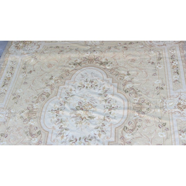 "Vintage French Aubusson Needlepoint Rug - 7' 8"" X 9'11"" - Image 7 of 11"