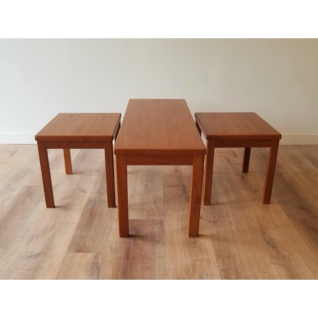 Mid-Century Modern Vejle Stole & Møbelfabrik Teak Coffee Table With Nesting Side Tables - 3 Pieces For Sale - Image 3 of 13