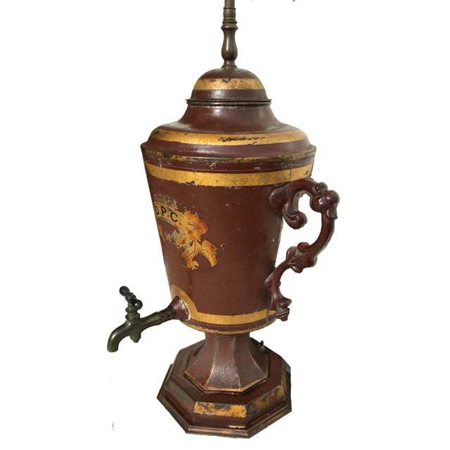 Early 19th Century Unique Early 19th C. English Tole Lamp For Sale - Image 9 of 12