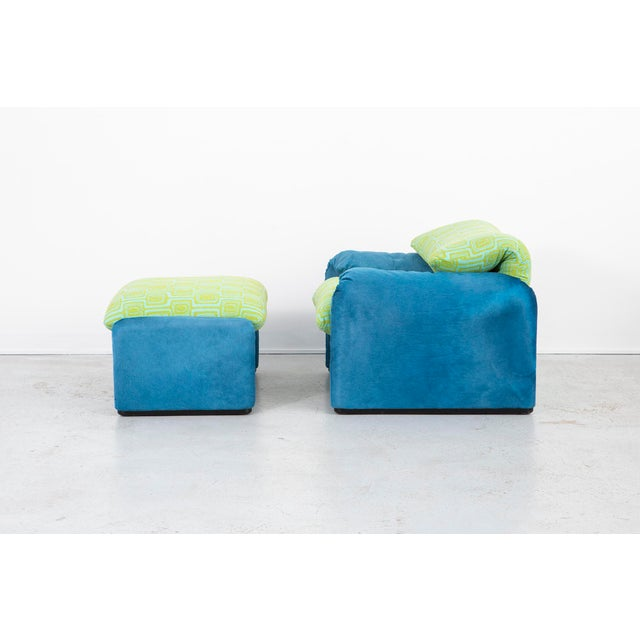 Italian Vico Magistretti Maralunga Chair + Ottoman For Sale - Image 3 of 11