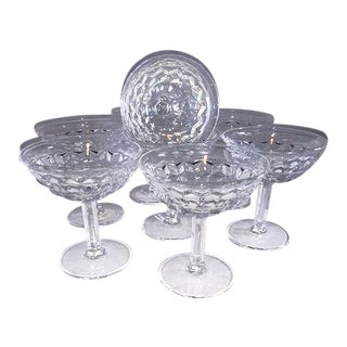 Fostoria American Clear Champagne Coupes - Set of 8 For Sale