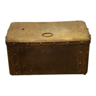 Distressed Metal Trunk