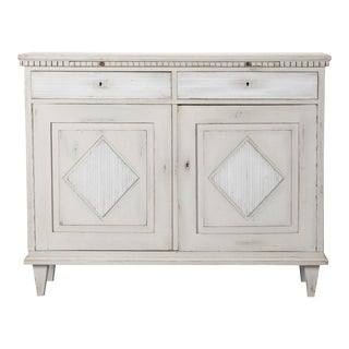 19th Century Painted Swedish Buffet Cabinet For Sale