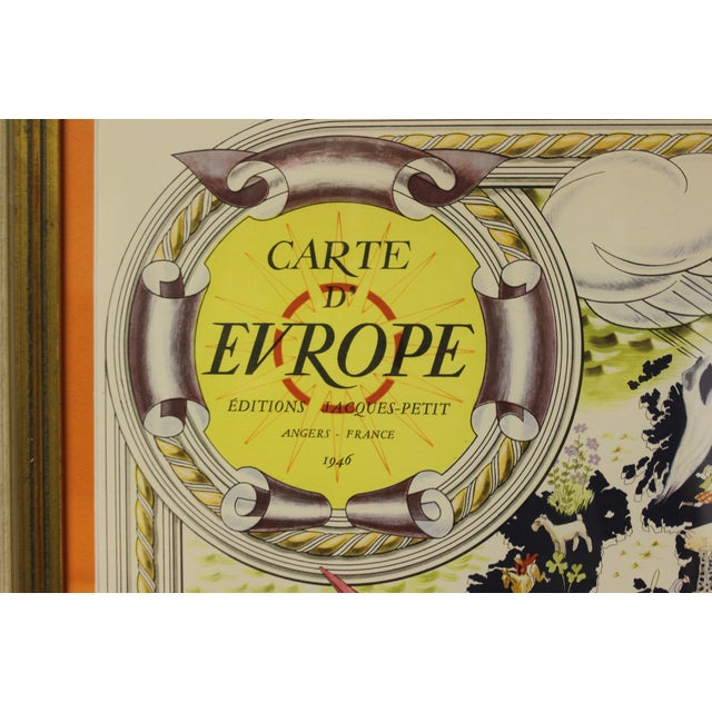 Carte D' Europe Map by Pierre Herault For Sale - Image 9 of 9