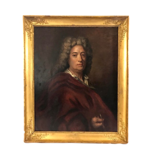 Figurative Portrait of a Gentleman (Unsigned) For Sale - Image 3 of 3