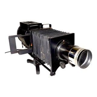 Bausch & Lomb Keystone Bellows Magic Lantern Style Projector Circa 1915 For Sale