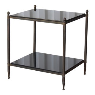 Vintage French Solid Brass Side Table For Sale