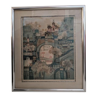 """Heishi Yu, Lithograph Entitled """"City of Man"""", Signed & Numbered, 203/250 For Sale"""