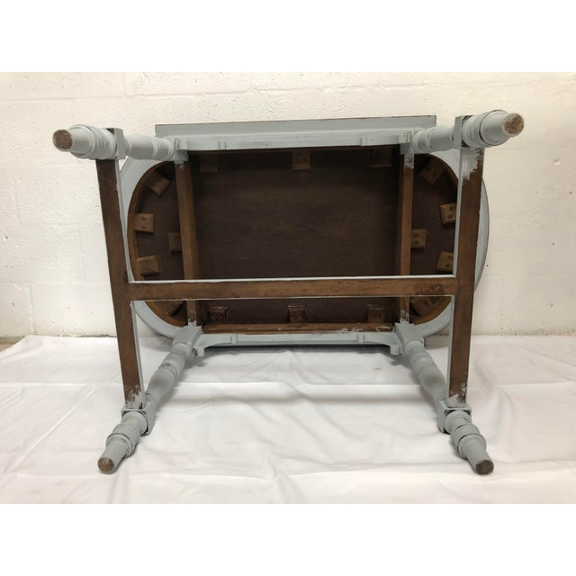Light Gray 19th Century Italian Polished Rosewood Veneer on Top With Painted Wood Base For Sale - Image 8 of 9