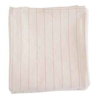 Pinstripe Blanket in Blush, Full/Queen For Sale
