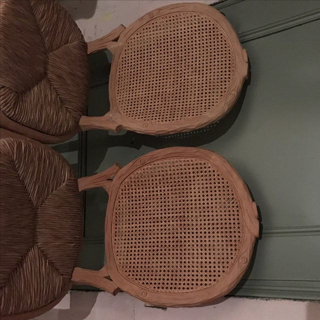 Faux Bois Dining Chairs - Pair For Sale - Image 7 of 10