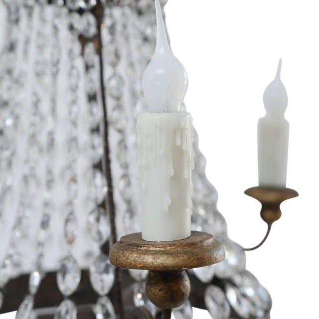 Empire Petite Italian Crystal Chandelier For Sale - Image 3 of 10