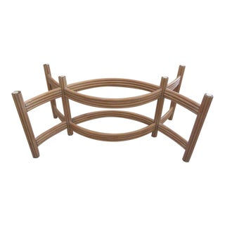 Rattan Island Style Dining Table For Sale