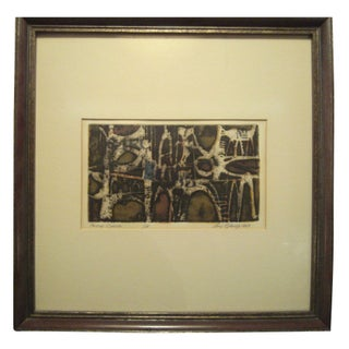 """1963 Ray George """"Petite Circus"""" Etching"""