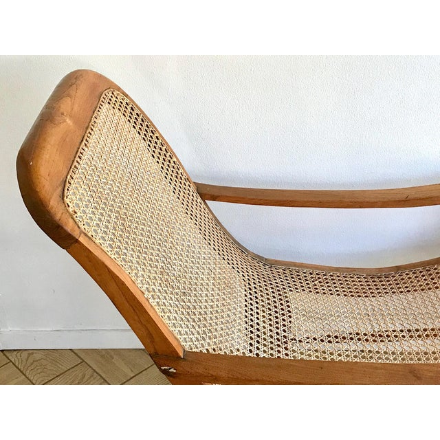 Brown Early 20th Century Antique Bauer Plantation Chaise Lounge For Sale - Image 8 of 13