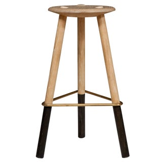 Erickson Aesthetics Solid Ash Tripod Stool For Sale