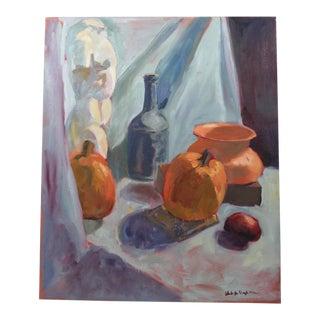 Mid-Century Still Life Studio Scene Painting For Sale