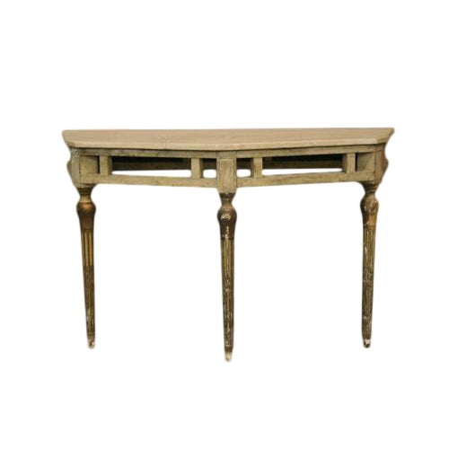 Italian Demilune Painted Table For Sale