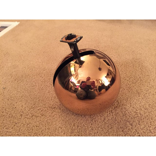Gold Mid-Century Lightolier Gold Orb Eye Track Light For Sale - Image 8 of 8