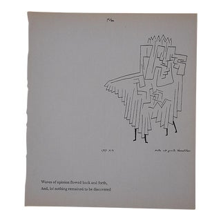 Vintage Klee Mid 20th C. Abstract Lithograph For Sale