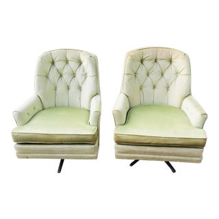 Mid-Century Modern Swivel Rocker Chairs- a Pair For Sale