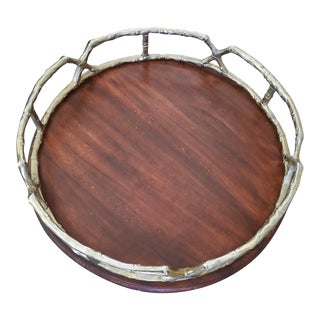 Faux Bamboo Serving Tray For Sale