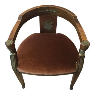 Empire Style Side Chair For Sale