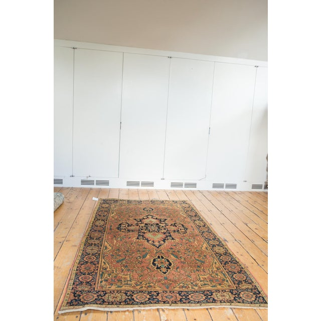 "Old New House Antique Farahan Sarouk Persian Rug - 3'10"" X 6'6"" For Sale - Image 4 of 13"