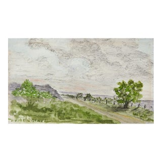 Small Watercolor Landscape Painting For Sale