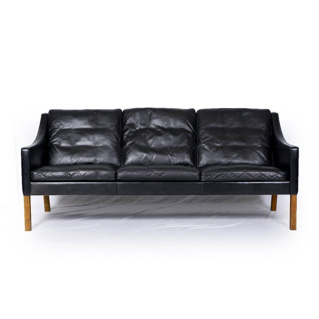 Børge Mogensen Model #2209 Three-Seat Leather Sofa - Image 2 of 8