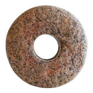 Modern Grinding Stone Decorative Object For Sale