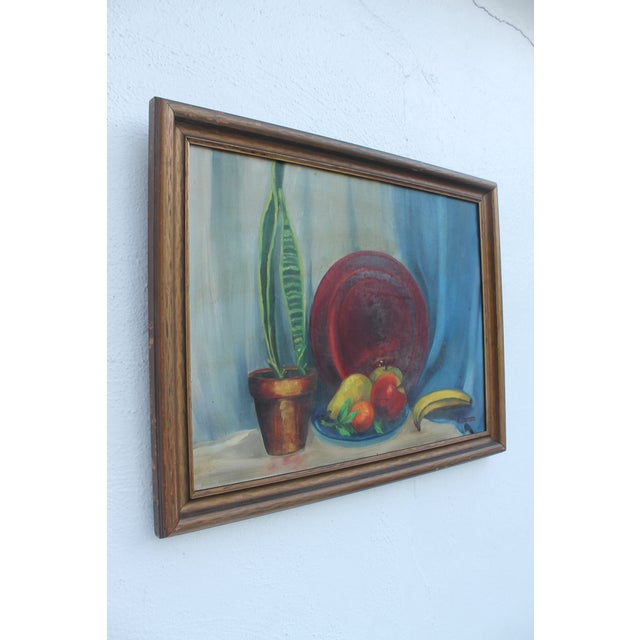 Mid-Century Modern N. Jacobs Still Life Oil Painting For Sale - Image 3 of 11