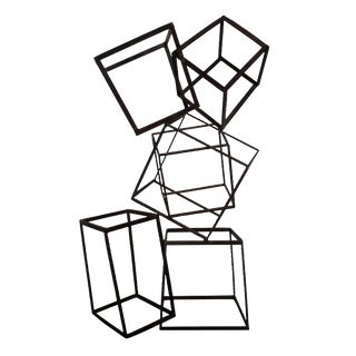 Arteriors Abstract Iron Cube Sculpture For Sale