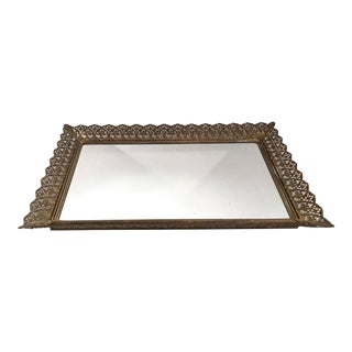 Vintage Hollywood Regency Dresser Mirror For Sale